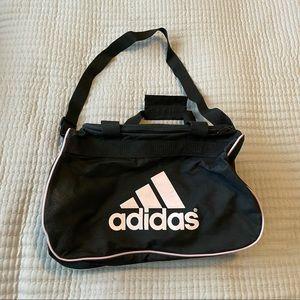 Adidas duffel bag small black and pink